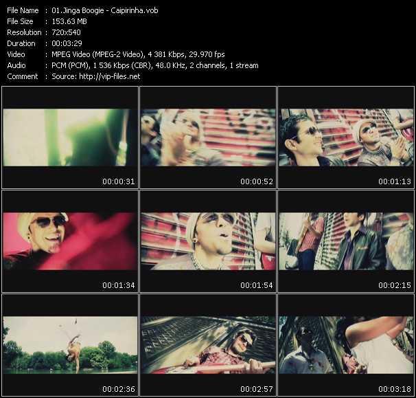 Screenshot of Music Video Jinga Boogie - Caipirinha