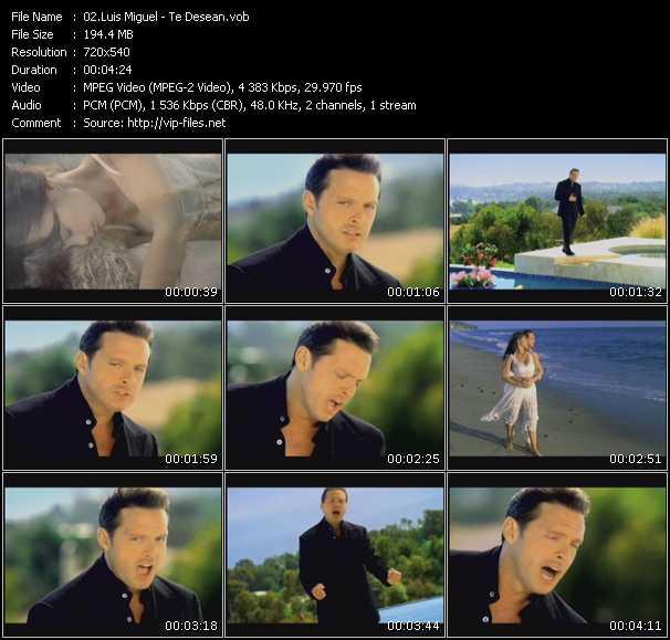 Screenshot of Music Video Luis Miguel - Te Desean