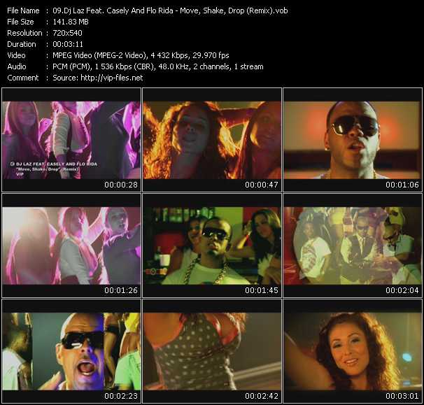Screenshot of Music Video Dj Laz Feat. Casely And Flo Rida - Move, Shake, Drop (Remix)