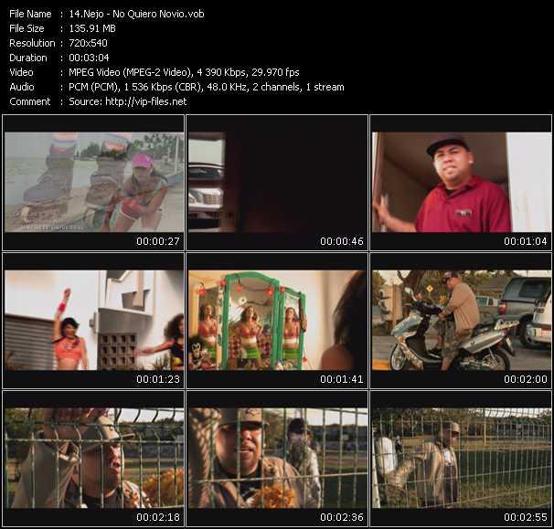 Screenshot of Music Video Nejo - No Quiero Novio