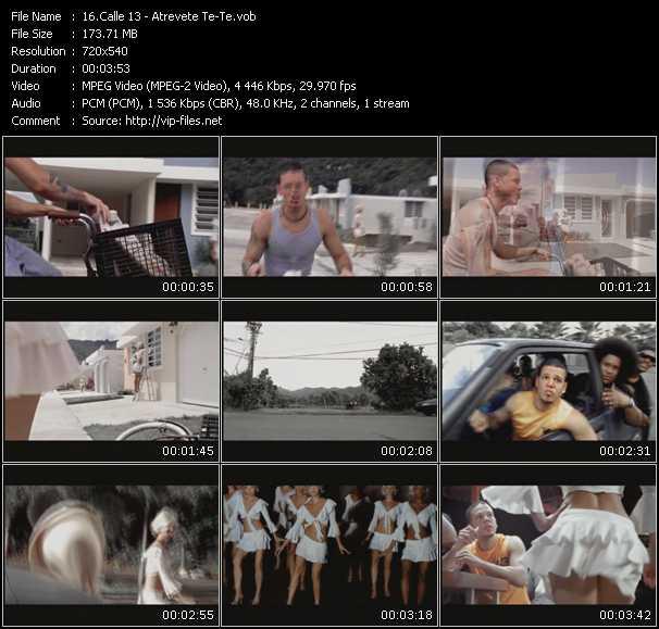 Screenshot of Music Video Calle 13 - Atrevete Te, Te!