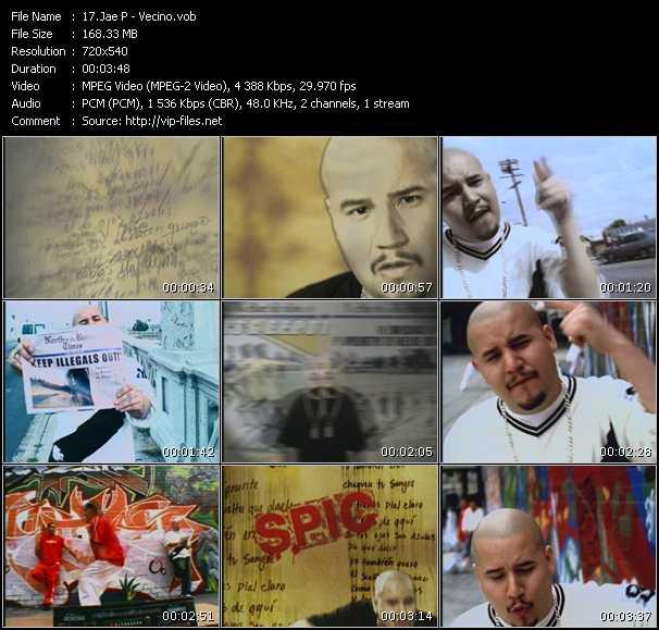 Screenshot of Music Video Jae P - Vecino
