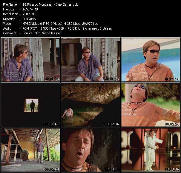 Screenshot of Music Video Ricardo Montaner - Que Ganas