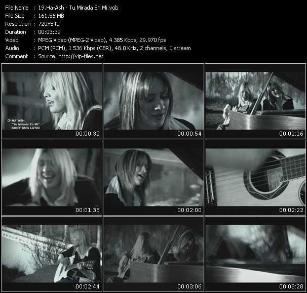Screenshot of Music Video Ha-Ash - Tu Mirada En Mi