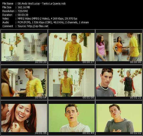 Screenshot of Music Video Andy And Lucas - Tanto La Queria