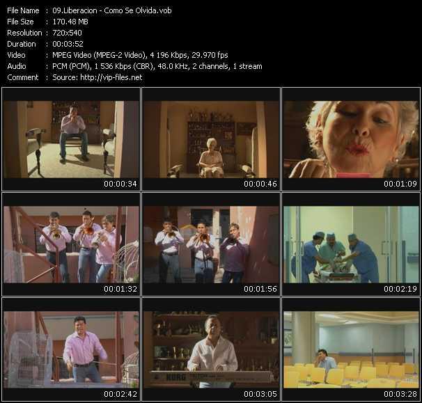 Screenshot of Music Video Liberacion - Como Se Olvida