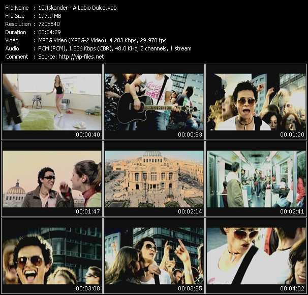Screenshot of Music Video Iskander - A Labio Dulce