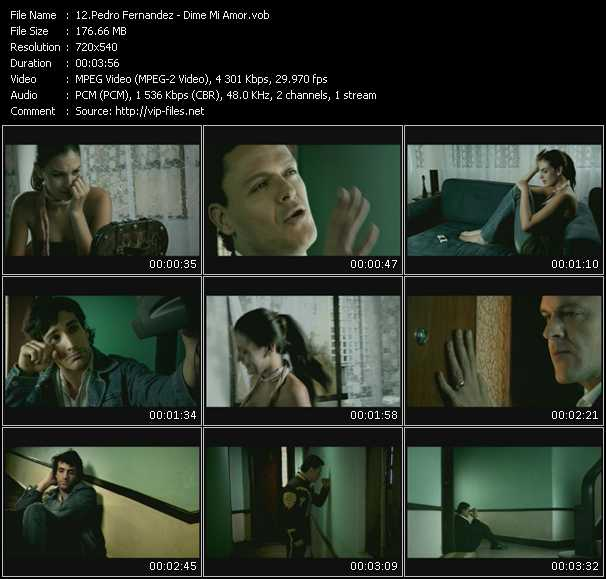 Screenshot of Music Video Pedro Fernandez - Dime Mi Amor