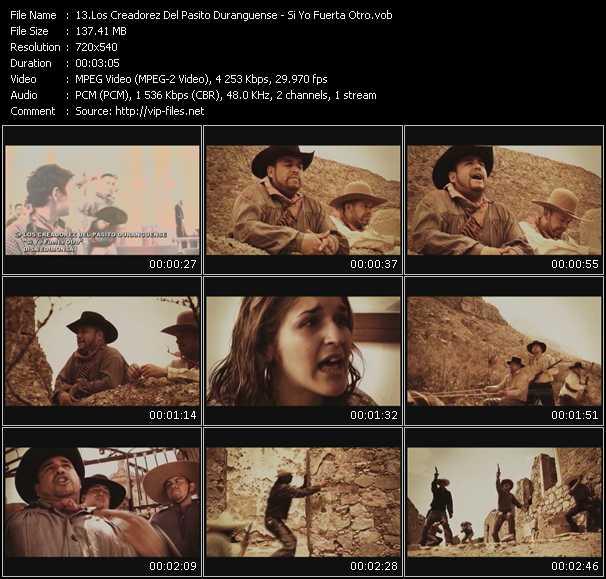 Screenshot of Music Video Los Creadorez Del Pasito Duranguense - Si Yo Fuerta Otro