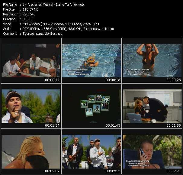 Screenshot of Music Video Alacranes Musical - Dame Tu Amor
