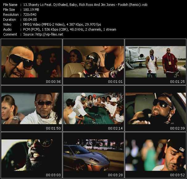 Shawty Lo Feat. DJ Khaled, Baby Aka Birdman, Rick Ross And Jim Jones video vob