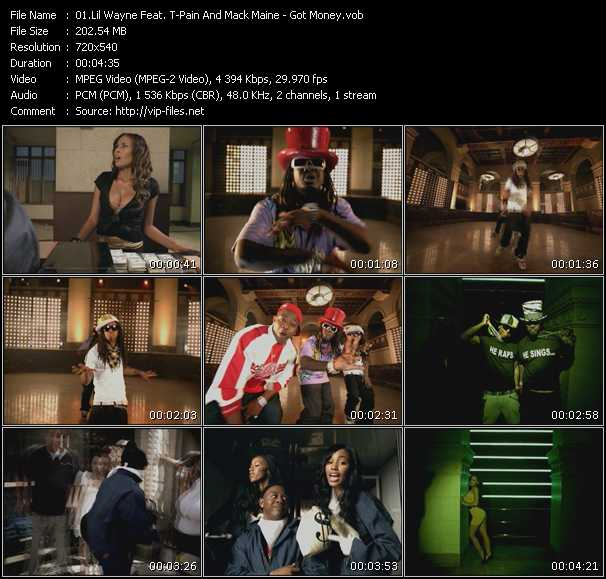 Screenshot of Music Video Lil' Wayne Feat. T-Pain And Mack Maine - Got Money