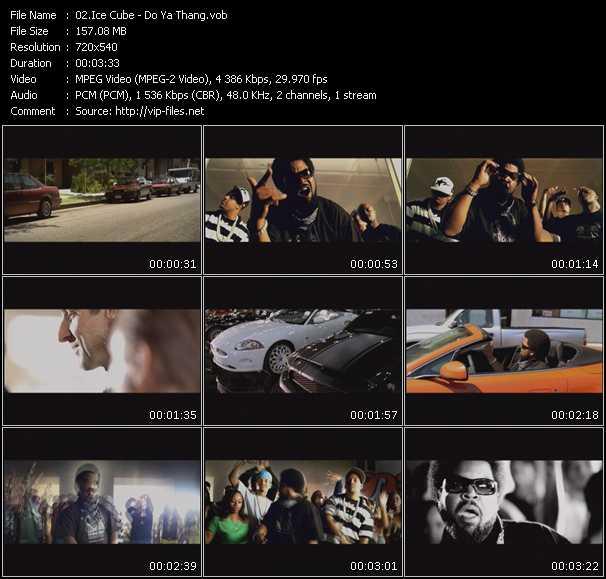 Screenshot of Music Video Ice Cube - Do Ya Thang