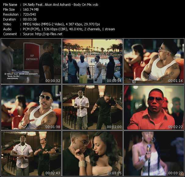 Screenshot of Music Video Nelly Feat. Akon And Ashanti - Body On Me