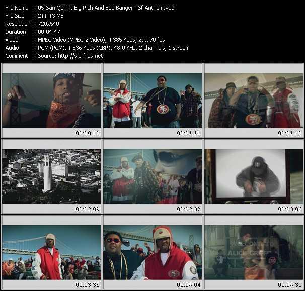 Screenshot of Music Video San Quinn, Big Rich And Boo Banger - Sf Anthem