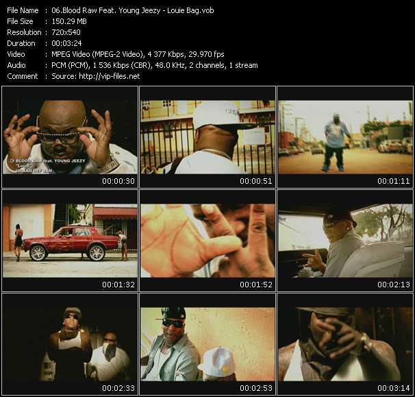 Screenshot of Music Video Blood Raw Feat. Young Jeezy - Louie Bag