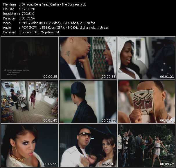 Screenshot of Music Video Yung Berg Feat. Casha - The Business