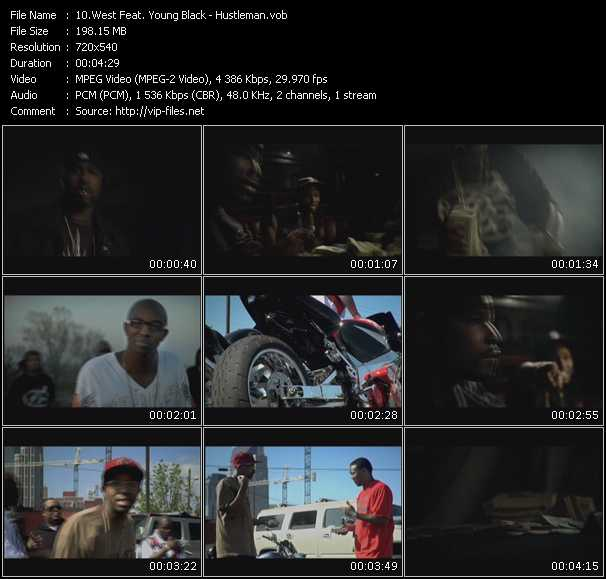 Screenshot of Music Video West Feat. Young Black - Hustleman