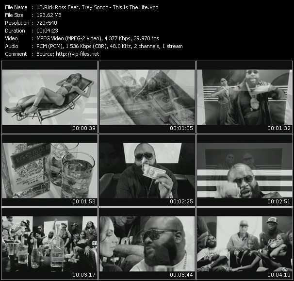 Screenshot of Music Video Rick Ross Feat. Trey Songz - This Is The Life