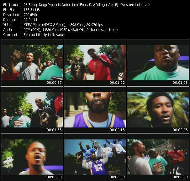Snoop Dogg Presents Dubb Union Feat. Daz Dillinger And Bj video vob