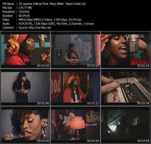 Screenshot of Music Video Jazmine Sullivan Feat. Missy Elliott - Need U Bad
