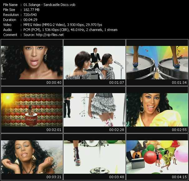 Screenshot of Music Video Solange - Sandcastle Disco