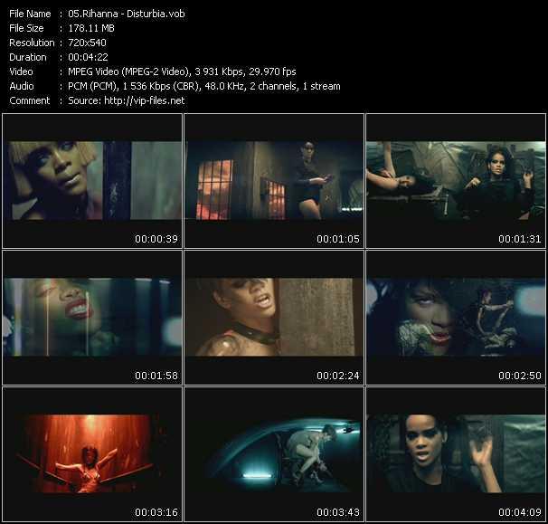 Rihanna video vob