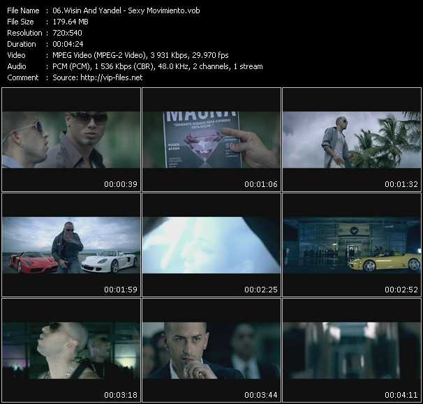 Screenshot of Music Video Wisin And Yandel - Sexy Movimiento