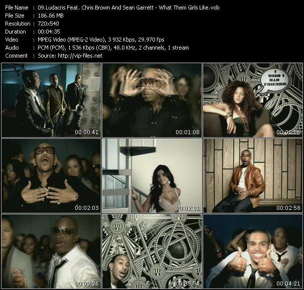 Ludacris Feat. Chris Brown And Sean Garrett video vob