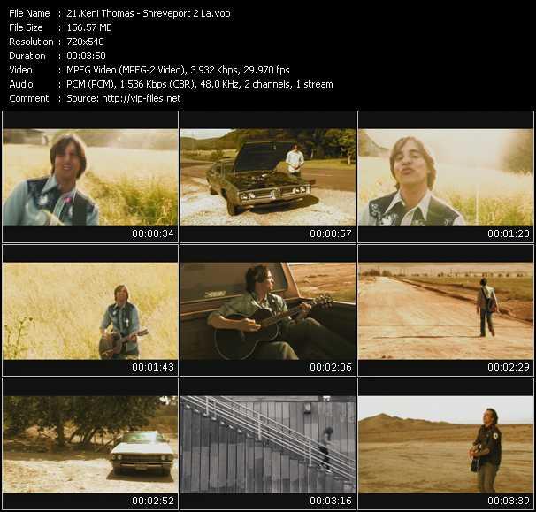 Screenshot of Music Video Keni Thomas - Shreveport 2 La