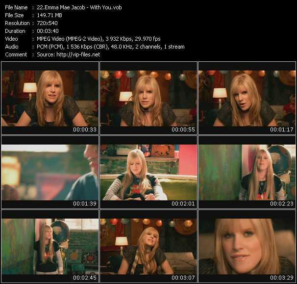 Screenshot of Music Video Emma Mae Jacob - With You