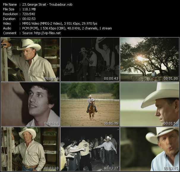 Screenshot of Music Video George Strait - Troubadour