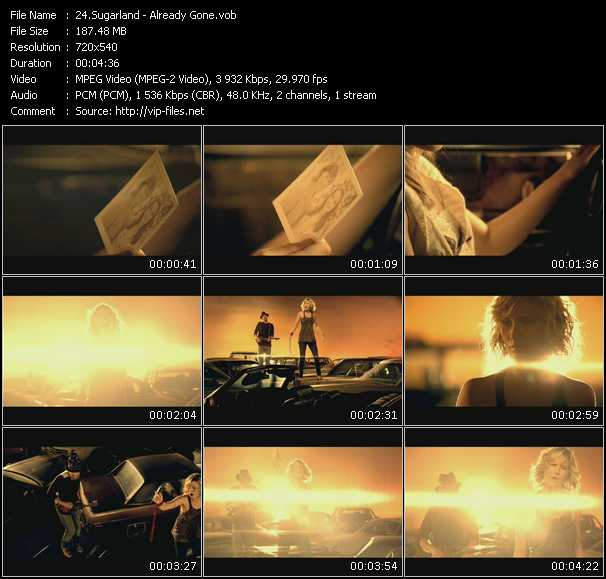 Sugarland video vob