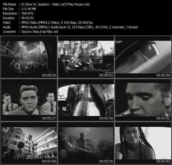 Screenshot of Music Video Elvis Presley Vs. Spankox - Baby Let'S Play House