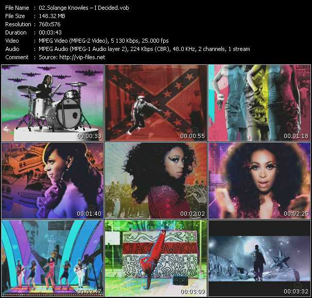 Screenshot of Music Video Solange Knowles - I Decided