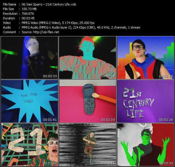 Screenshot of Music Video Sam Sparro - 21st Century Life