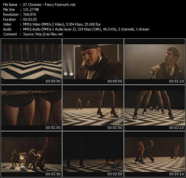 Screenshot of Music Video Chromeo - Fancy Footwork