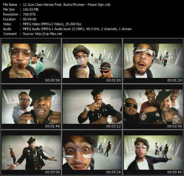 Screenshot of Music Video Gym Class Heroes Feat. Busta Rhymes - Peace Sign
