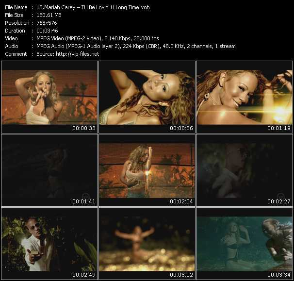 Screenshot of Music Video Mariah Carey - I'Ll Be Lovin' U Long Time