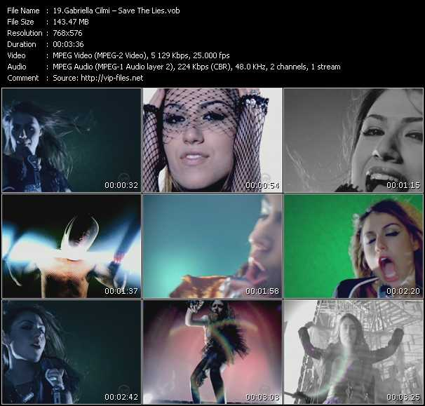 Screenshot of Music Video Gabriella Cilmi - Save The Lies