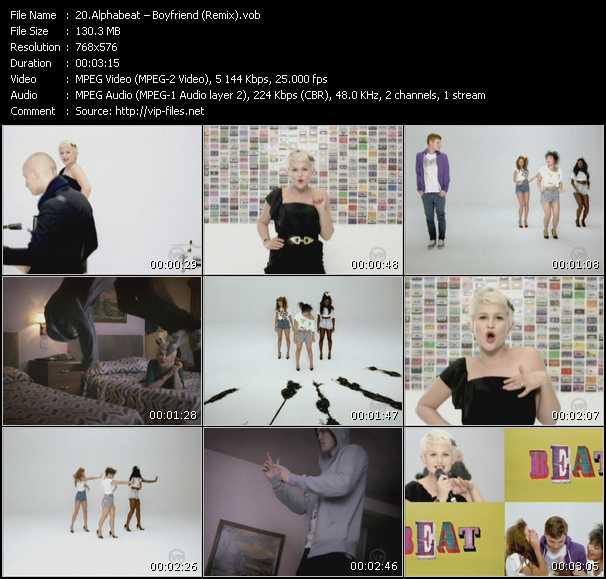 Screenshot of Music Video Alphabeat - Boyfriend (Remix)