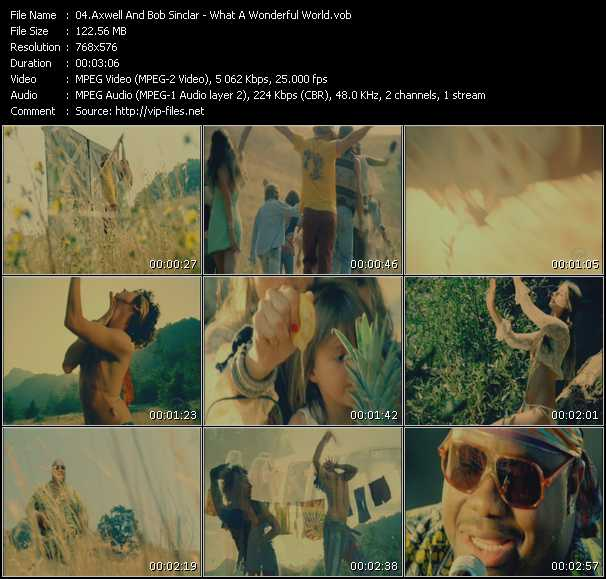 Screenshot of Music Video Axwell And Bob Sinclar Feat. Ron Carroll - What A Wonderful World