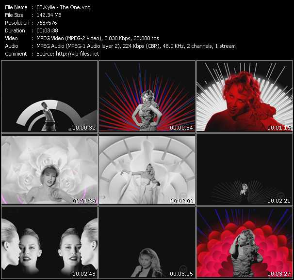 Screenshot of Music Video Kylie Minogue - The One