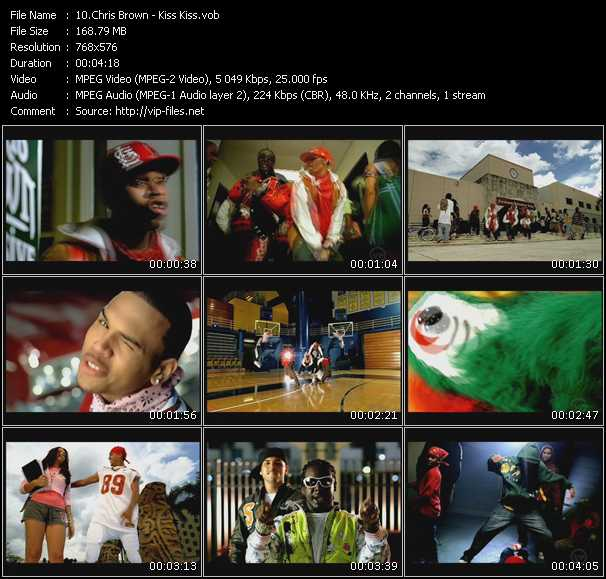 Screenshot of Music Video Chris Brown - Kiss Kiss