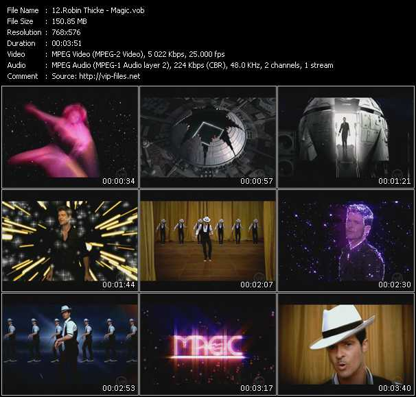 Screenshot of Music Video Robin Thicke - Magic