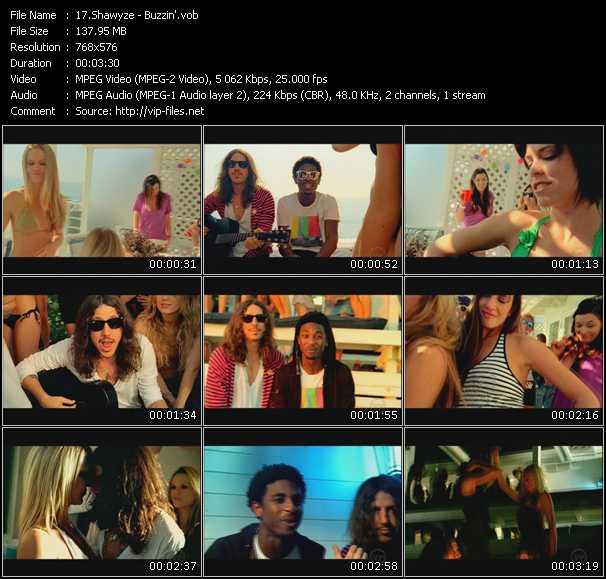 Screenshot of Music Video Shawyze - Buzzin'
