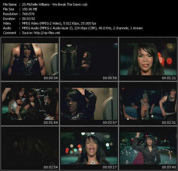 Screenshot of Music Video Michelle Williams - We Break The Dawn
