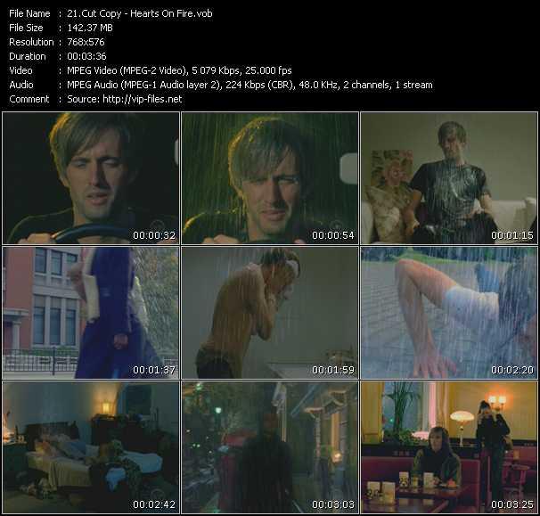 Screenshot of Music Video Cut Copy - Hearts On Fire