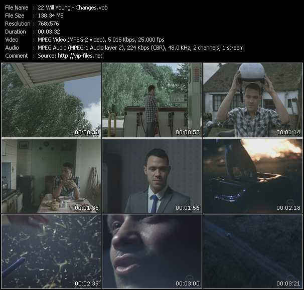 Screenshot of Music Video Will Young - Changes