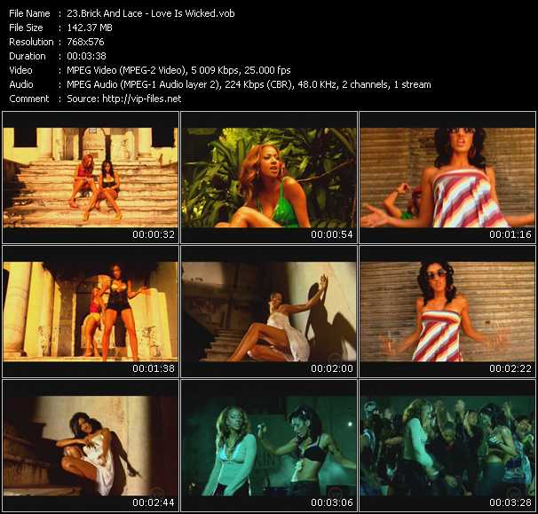 Screenshot of Music Video Brick And Lace - Love Is Wicked